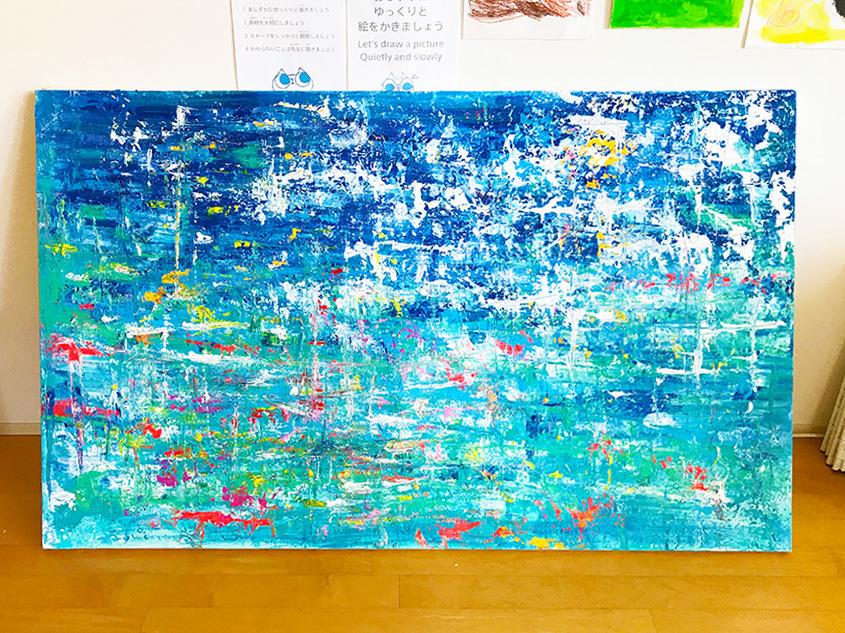 松田光一のアクリルペインティング 麻布アトリエ 子供絵画教室 世界遺産アート